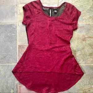 maroon blouse // rue21